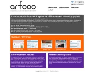 arfooo-creation.fr screenshot