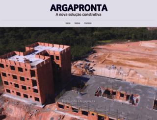 argapronta.com.br screenshot