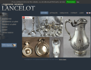 argenterie-ancienne-lancelot.fr screenshot