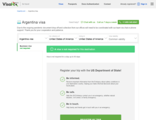 argentina.visahq.com screenshot
