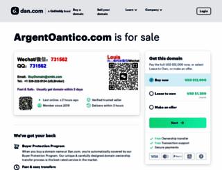 argentoantico.com screenshot