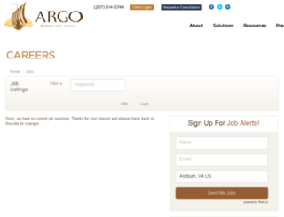 argomarketinggroup.applicantpro.com screenshot