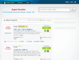 argonvoucher.com screenshot