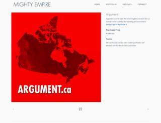 argument.ca screenshot