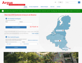argus-benelux.be screenshot