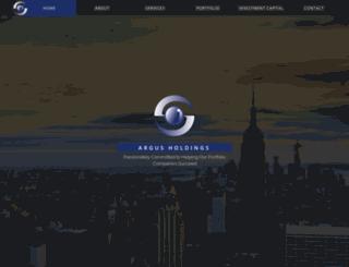 argus-holdings.com screenshot