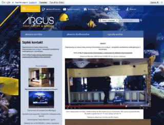 argusakwarystyka.pl screenshot
