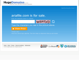 ariafile.com screenshot