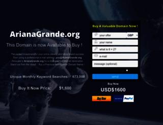 arianagrande.org screenshot