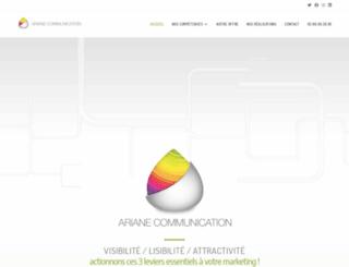 ariane-prod.fr screenshot