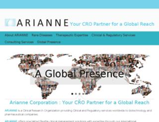 ariannecorp.com screenshot