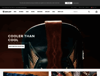 ariat.com screenshot