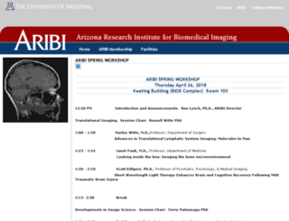 aribi.arizona.edu screenshot