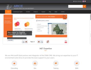aricie.com screenshot