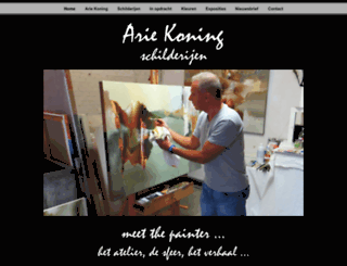 ariekoning.nl screenshot