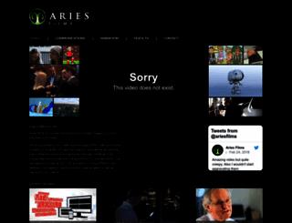 ariesfilms.com screenshot
