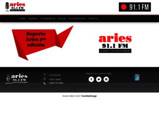 ariesfmsalta.com.ar screenshot
