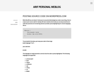 arifab.wordpress.com screenshot
