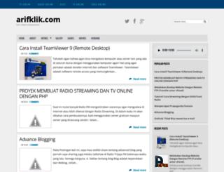 arifklik.com screenshot