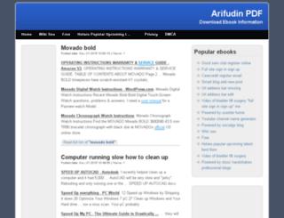 arifudin.com screenshot