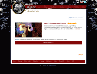 arignaminingsantaexperience.rezgo.com screenshot