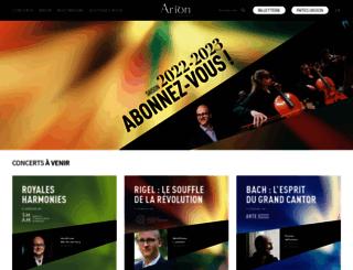 arionbaroque.com screenshot