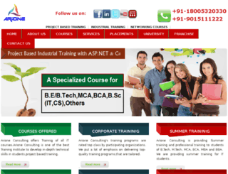 arioneconsulting.com screenshot