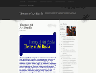 arirusilathemes.wordpress.com screenshot