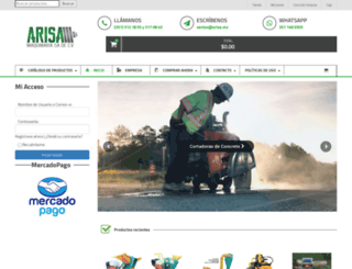 arisa.com.mx screenshot