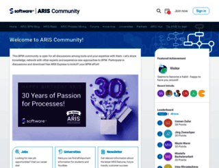 ariscommunity.com screenshot