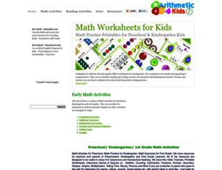 arithmeticforkids.com screenshot
