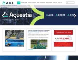 arivalves.com screenshot
