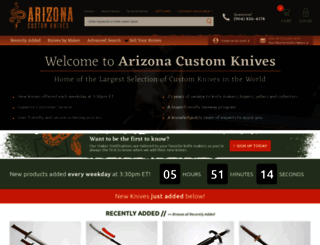 arizonacustomknives.com screenshot