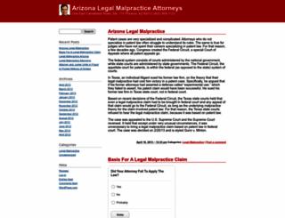 arizonalegalmalpractice.wordpress.com screenshot