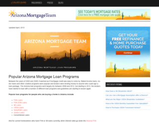 arizonamortgageteam.com screenshot