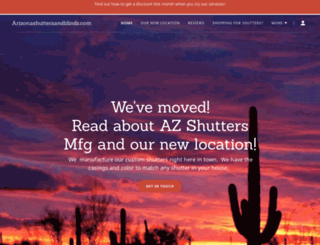 arizonashuttersandblinds.com screenshot
