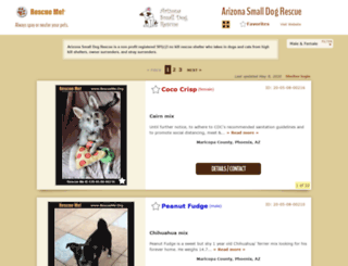 arizonasmalldogrescue.rescueme.org screenshot