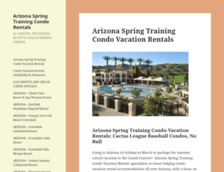 arizonaspringtrainingcondorentals.com screenshot