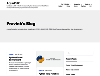 arjunphp.com screenshot