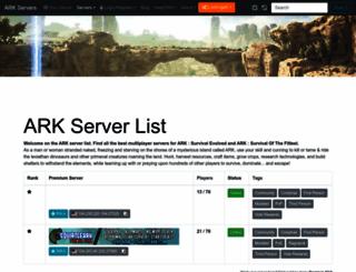 ark-servers.net screenshot