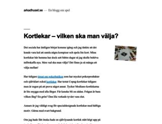 arkadhuset.se screenshot