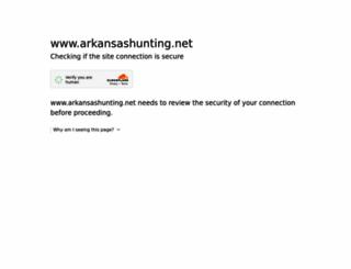 arkansashunting.net screenshot
