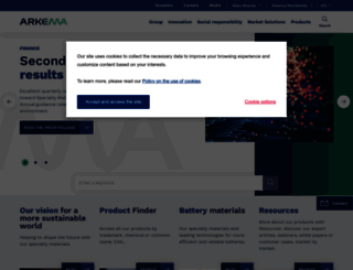 arkema.com screenshot