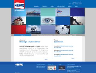 arkon-shipping.com screenshot