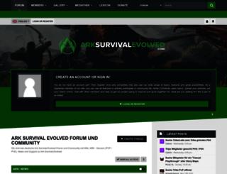 arksurvivalevolved.zone screenshot