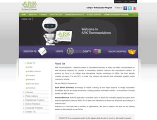 arktechnosolutions.com screenshot