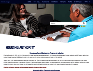 arlingtonhousing.us screenshot