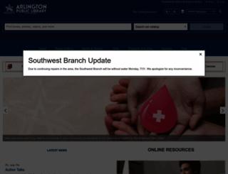 arlingtonlibrary.org screenshot