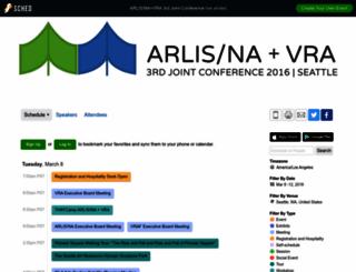 arlisnavra2016.sched.org screenshot