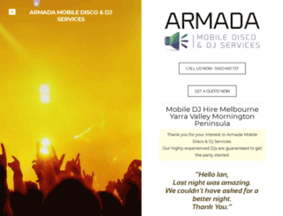 armadamobiledisco.com screenshot